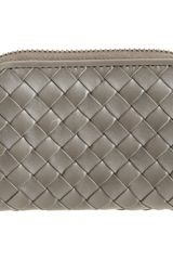 Bottega Veneta Intrecciato Zip Around Coin Purse - Lyst