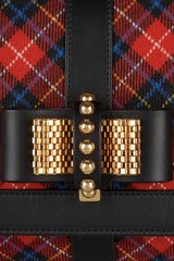 Christian Louboutin Sweet Charity Small  Plaid Flannel Shoulder Bag in Black (multicolored) - Lyst