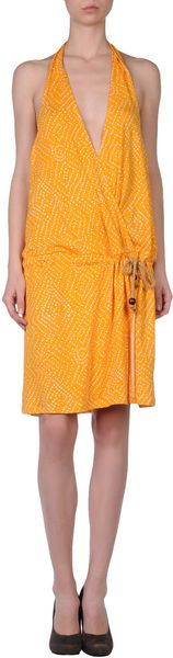 Diane Von Furstenberg Short Dress in Orange - Lyst