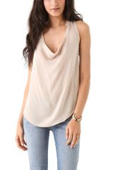 Haute Hippie Sleeveless Cowl Blouse - Lyst