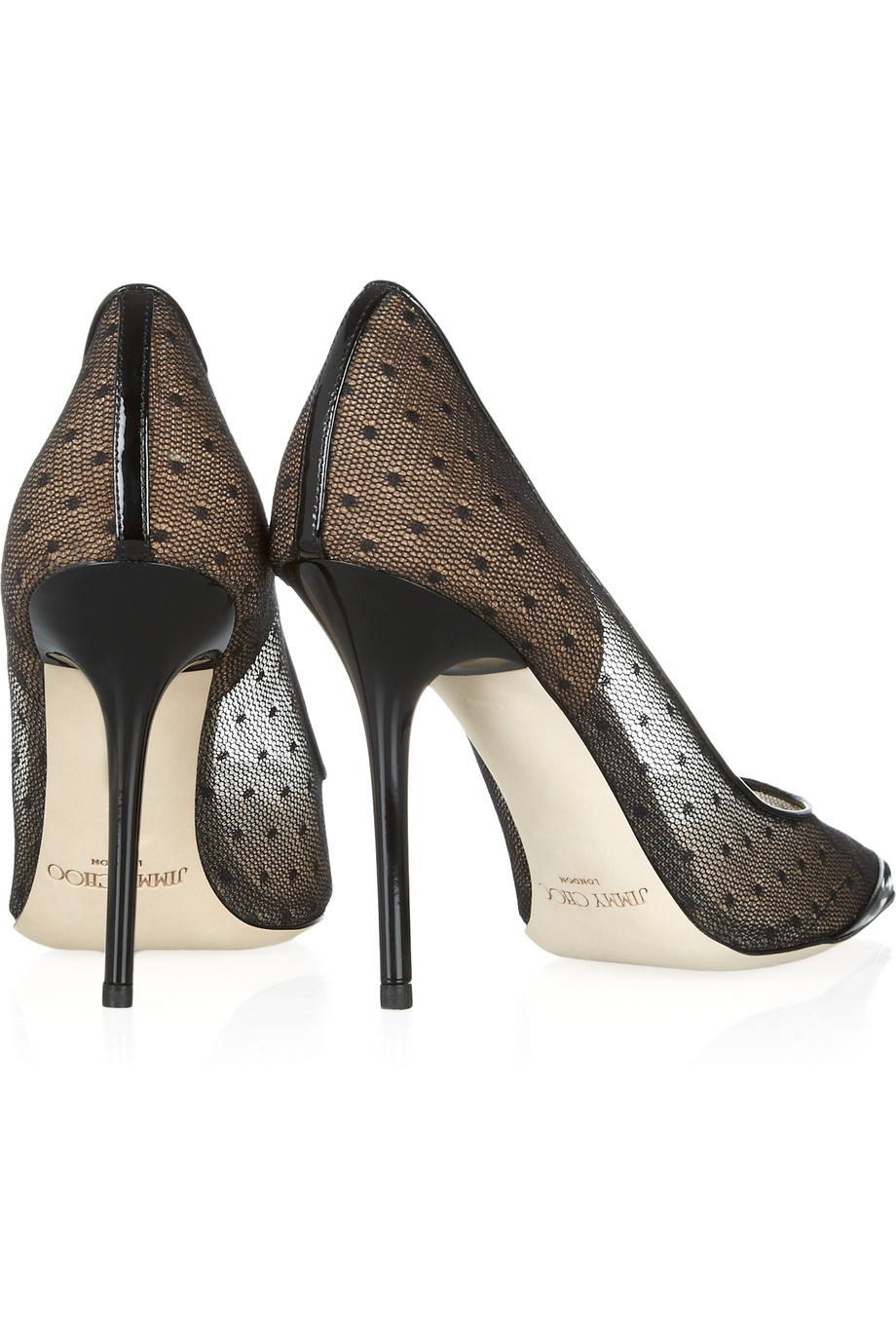 0ef4a510f63f Jimmy choo Barb Lace Pointedtoe Pumps in Black