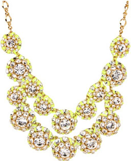 Kate Spade Hip Stitch Bib Necklace in Gold (c) - Lyst