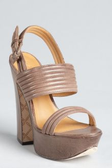 L.a.m.b. Chocolate Leather Mabelle Platform Sandals - Lyst