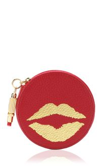 Lulu Guinness  Leather Round Coin Purse - Lyst