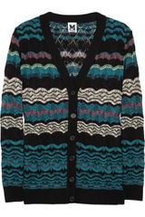 M Missoni Crochet-knit Cardigan - Lyst