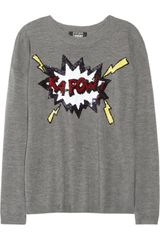 Markus Lupfer Kapow Sequined Merino Wool Sweater - Lyst