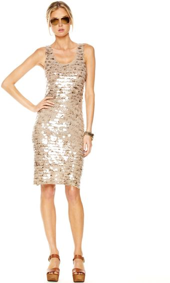 Michael by Michael Kors Sequined Tank Dress - Lyst