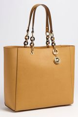 Michael by Michael Kors Large Saffiano Leather Tote - Lyst