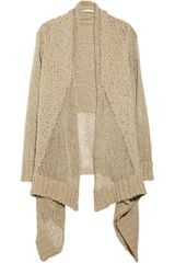 Michael by Michael Kors Open-knit Cotton and Linen-blend Cardigan - Lyst