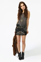 Nasty Gal Rattlesnake Skirt in Black - Lyst