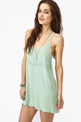 Nasty Gal Crochet Cross Dress Mint - Lyst