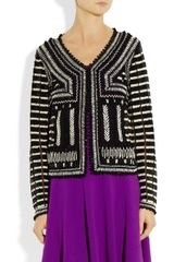 Oscar De La Renta Embellished Tulle Jacket in Black - Lyst