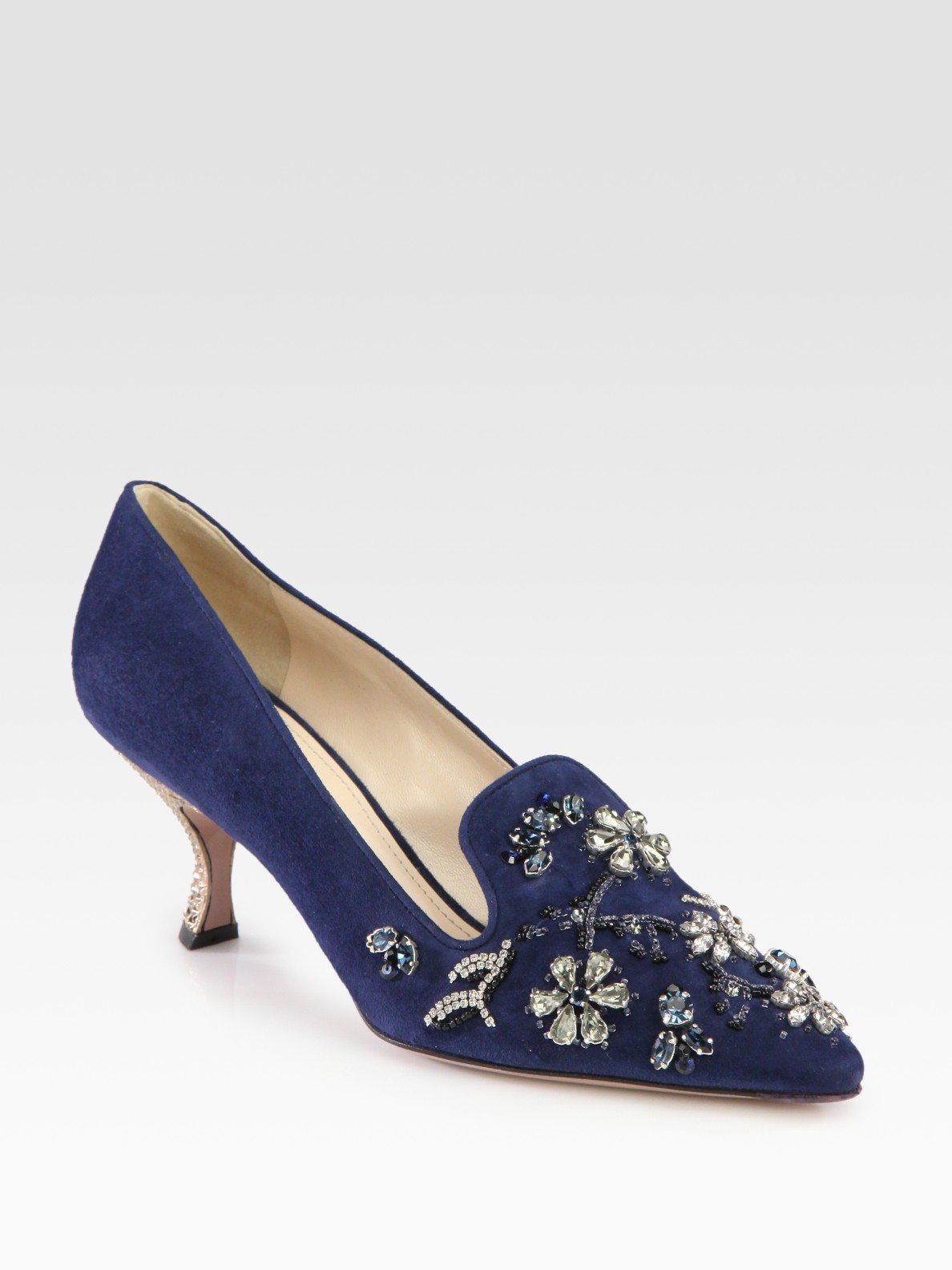Prada Jewel-Embellished Pointed-Toe Pumps sale top quality cost cheap online cheap sale really buy online new YJBlrXR