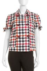 RED Valentino Check Shortsleeve Jacket - Lyst