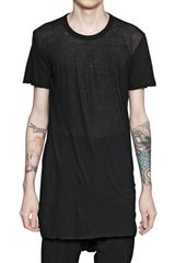 Rick Owens Unstable Cotton Round Neck Tshirt - Lyst