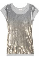 Sass & Bide The Enigma Sequined Cotton Blend Tshirt - Lyst