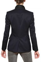 Stella Mccartney Drill Wool Jacket in Blue (midnight) - Lyst