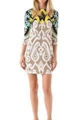 Tibi Jasmine Printed Shift Dress - Lyst