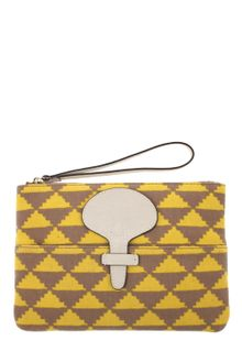 Tila March Clutch in Printed Canvas - Lyst
