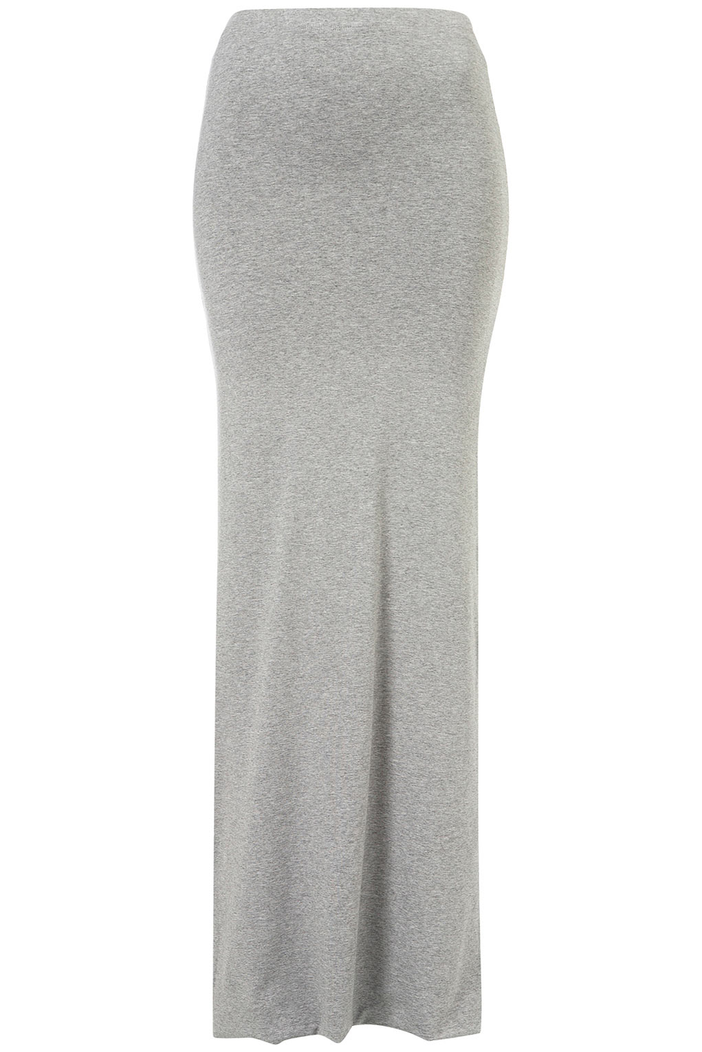 Topshop Grey Double Layer Maxi Skirt in Gray | Lyst