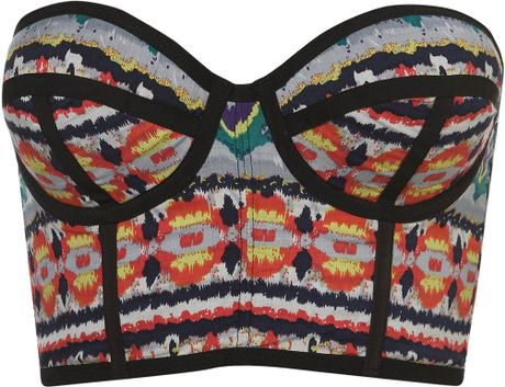 Topshop Aztec Print Underwired Bralet in Multicolor (multi) - Lyst