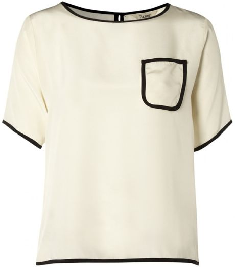 Tucker Tucker Keyhole Pocket Top Ivory in White (ivory) - Lyst