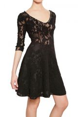 Blugirl Blumarine Embroidered Wool Lace Dress - Lyst