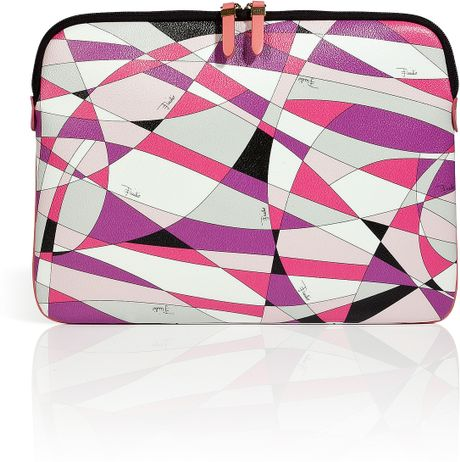 Emilio Pucci Laptop Case in Pink (silver) - Lyst