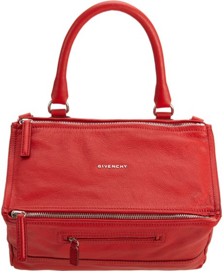 Givenchy Medium Pandora Messenger in Red - Lyst