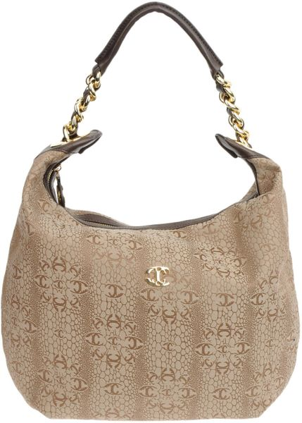 Just Cavalli Large Fabric Bag in Beige (khaki) - Lyst
