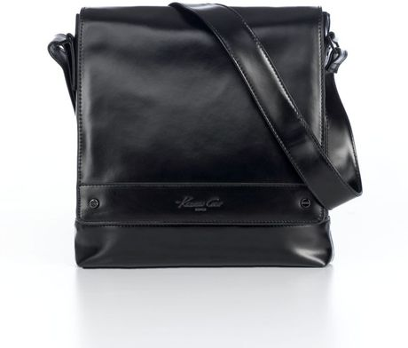 Kenneth Cole Tasmanian Leather Bag  in Black for Men - Lyst