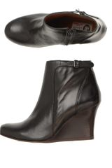 Lanvin Leather Wedge Ankle Boots - Lyst