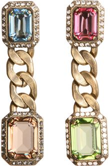 Lanvin Strass Crystal Tutti Frutti Earrings - Lyst