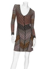 Missoni Long Sleeve Basket Weave Dress - Lyst