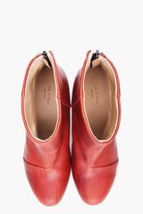 Rag & Bone Red Classic Newbury Booties in Red - Lyst
