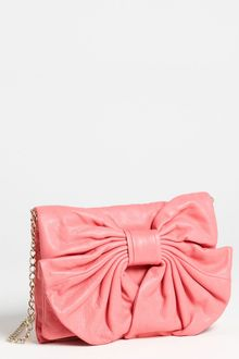 RED Valentino Bow Leather Clutch - Lyst