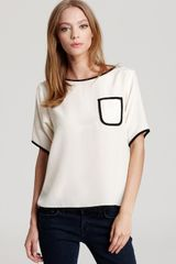 Tucker Quotation Top Short Sleeve Pocket - Lyst