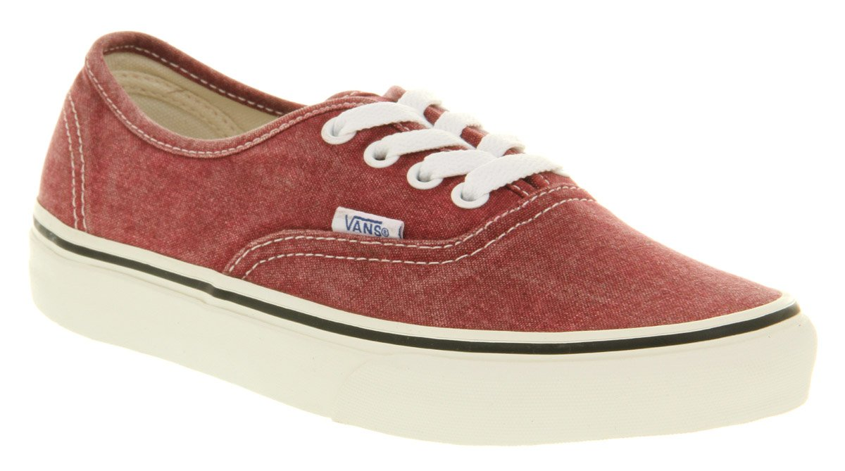 ff2e39da54 Lyst - Vans Authentic Washed Rio Red Exclusive in Red for Men