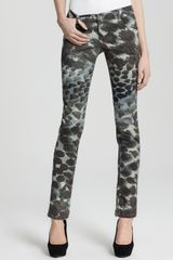 Alice + Olivia Skinny Jeans Printed 5 Pocket in Animal Print - Lyst