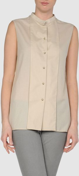 Cacharel Sleeveless Shirt - Lyst