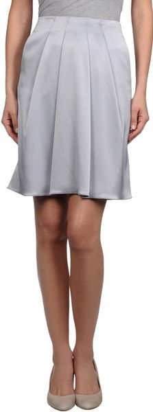 Emporio Armani Knee Length Skirt in Gray (grey) - Lyst