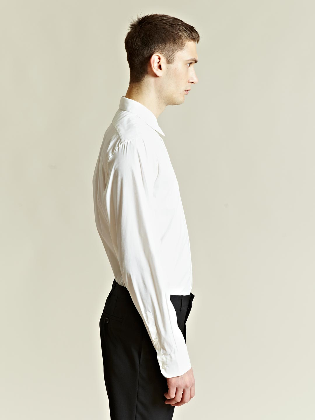 lyst jil sander mens lava shirt in white for men. Black Bedroom Furniture Sets. Home Design Ideas