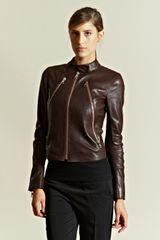 Maison Martin Margiela Womens Leather Zip Jacket - Lyst