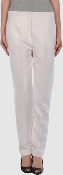 Stella Mccartney Casual Pants in White (ivory) - Lyst