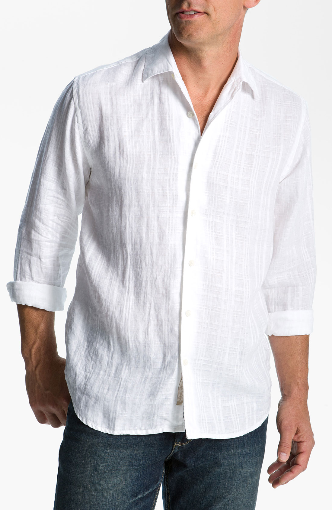 Tommy bahama portorosa linen sport shirt in white for men for Where to buy tommy bahama shirts