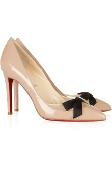Christian Louboutin Love Me 100 Leather and Mesh Pumps - Lyst