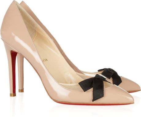Christian Louboutin Love Me 100 Leather and Mesh Pumps in Beige (blush) - Lyst