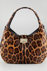 Jimmy Choo Relax Leopardprint Hobo - Lyst