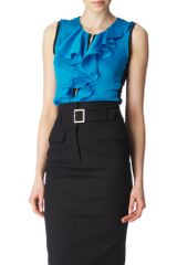 Karen Millen Ruffled Top - Lyst