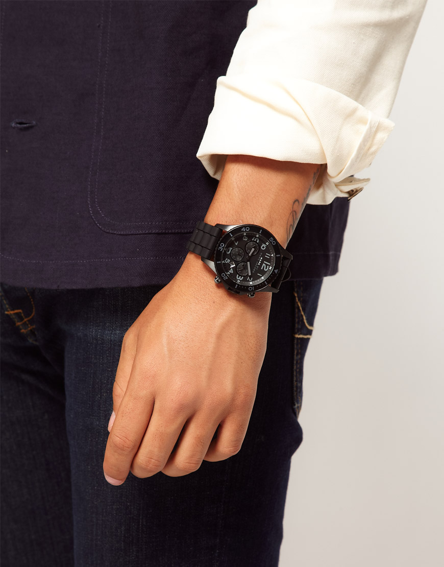 marc by marc jacobs chronograph watch in black for men lyst gallery